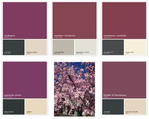 colors that go with plum benjmain color capture country design home