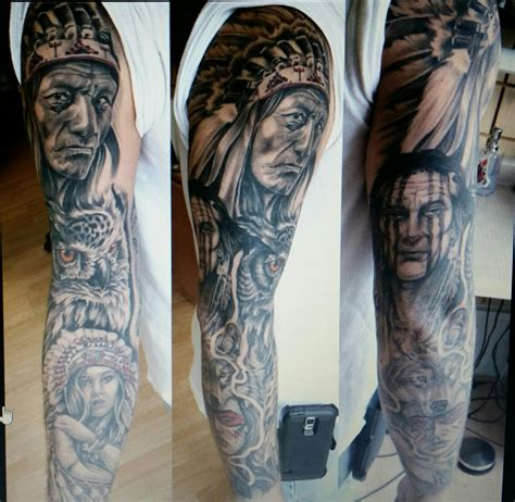 native american sleeve tattoos american indian sleeve tattoos