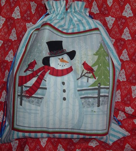 hand made gift bags for christmas large handmade fabric gift bags ebay