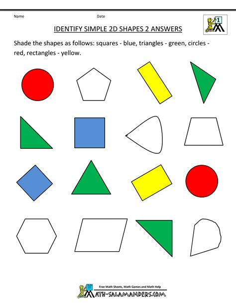 printable regular and irregular shapes first grade geometry