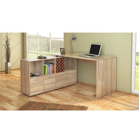 Wrap Desk by Desk Wrap Around Desk Corner Desk Computer Desk Sonoma Oak