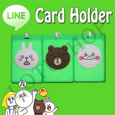 Tempat Kartu Card Holder card holder line character moon conny brown