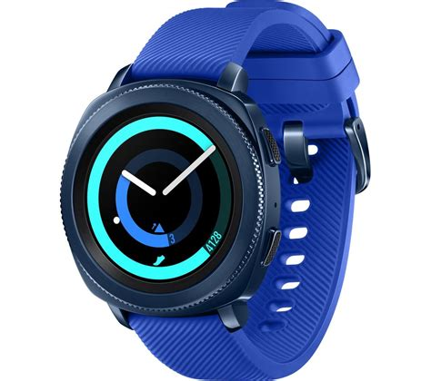 buy samsung gear sport blue silicone free delivery currys