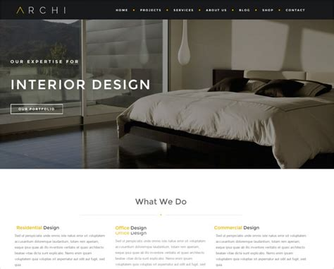23 Interior Design Website Themes Templates Free Premium Templates Interior Website Templates