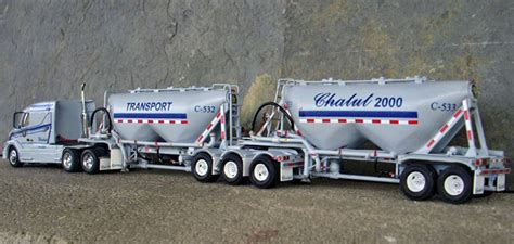 transport chalut  volvo  truck tractor pneumatic bulk  train