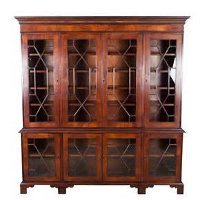 antique looking bookshelves large antique style mahogany glass bookcase