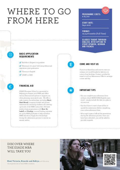 Mba Esade Cost by Brochure Esade Time Mba Eng