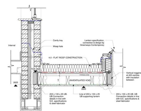 Flat Roof Section Detail by Flat Roof Flat Roof Detail