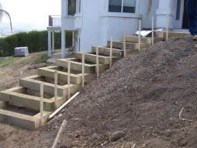 outside steps the 2 minute gardener garden elements landscape timber stairs