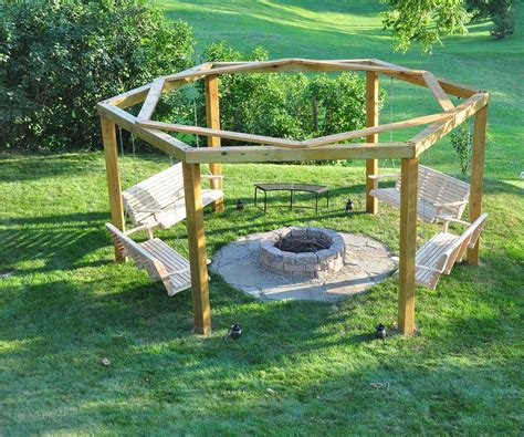 diy swing fire pit fire pit seating to make your outdoors cozy