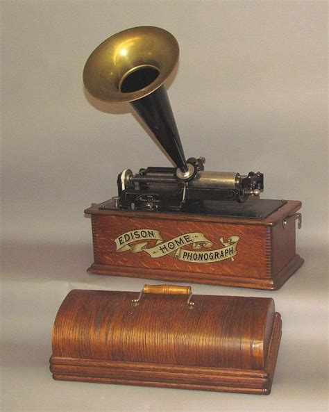 edison home phonograph cylinder record player