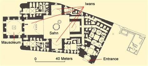 Floor Plan Of Mosque by The Mosque And Madrasa Of Sultan Hassan