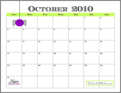 printable calendar cute almost october so here is your free printable calendar
