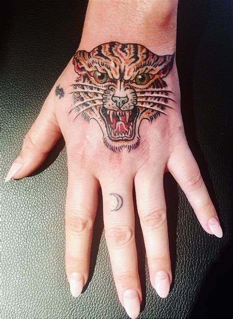 kesha tattoos kesha shows new tiger on instagram