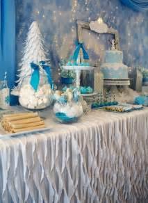 How To Make Winter Wonderland Decorations - kara s party ideas frozen winter wonderland themed birthday party