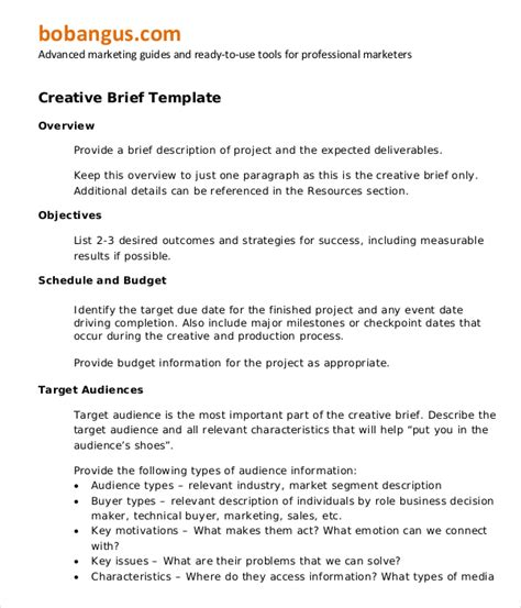 marketing research brief template marketing brief template free word excel documents