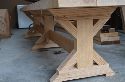 trestle bench plans pdf diy pedestal trestle dining table plans download