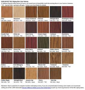sherwin williams stain colors jc huffman cabinetry stain color options
