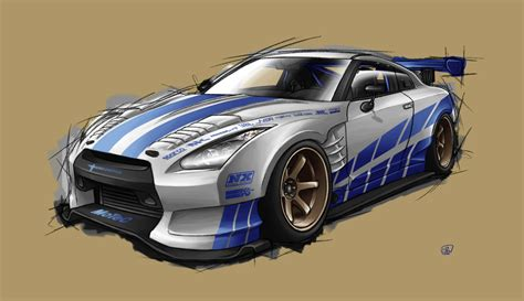 nissan skyline drawing 2 fast 2 furious fast and furious cars names image 308