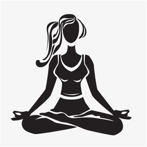 baju yogs blak white black meditation vector material black