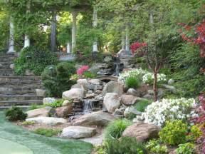 garden waterfalls traditional landscape other metro