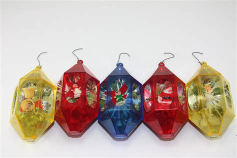 reserved for chris vintage plastic christmas ornaments