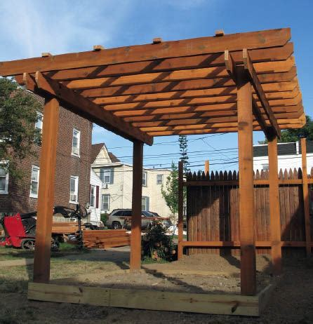 designing  pergola   ground  professional deck