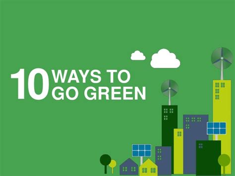 10 easy ways to go green at home 10 ways to go green