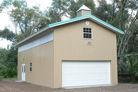 kissimmee 16 by 60 foot aluminum roof haggetts aluminum cornerstone building company horse barn construction