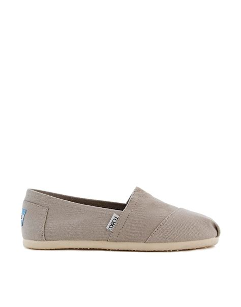 gray flat shoes toms classic light grey flat shoes in gray lightgrey lyst