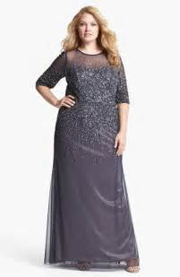 adrianna papell beaded illusion gown plus size