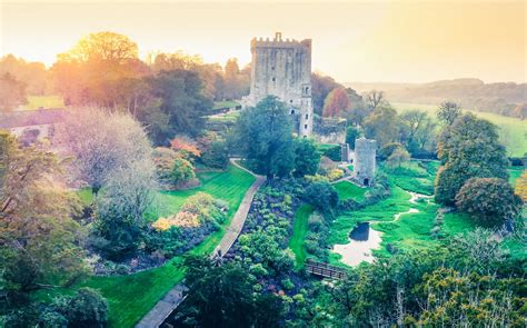 beautiful in beautiful castles drone footage aerial