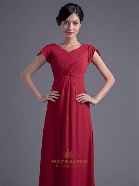 Sleeve Floor Length Dresses by Chiffon Empire Floor Length Bridesmaid Dresses With
