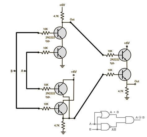 transistor nand gate how to combine transistor logic gates without voltage drop electrical