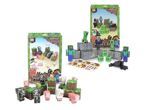 Minecraft Papercraft Hostile Mobs Set - minecraft papercraft animal hostile 2pk toys