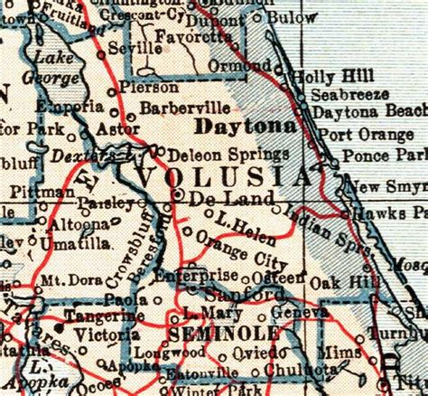 map of volusia county florida map of volusia county florida 1921