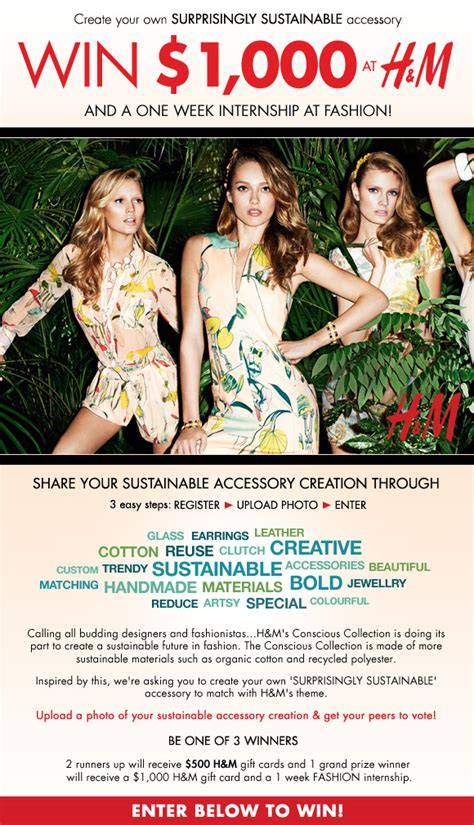 H M Canada Gift Card - canadian contest fashion magazine canada win 1 000 h m gift card coolcanucks