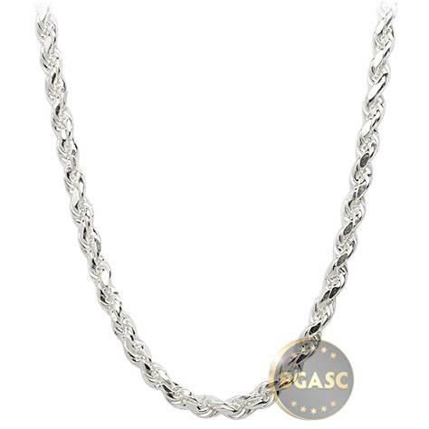 buy sterling silver rope chain necklace 3mm 16 18 20