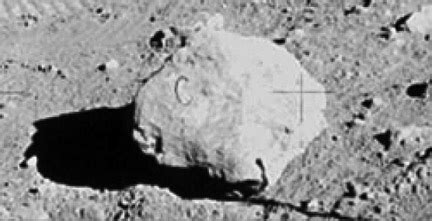 """the apollo moon hoax: there is a """"prop rock"""" labeled with"""