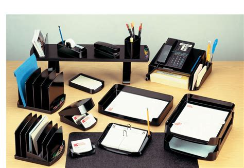 items for office desk officemate supply organizer clear