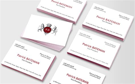 patrick bateman luxe business cards