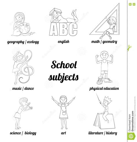 coloring pages school subjects school subject coloring pages sketch coloring page