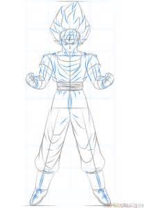 How To Draw Goku Saiyan Step By Step
