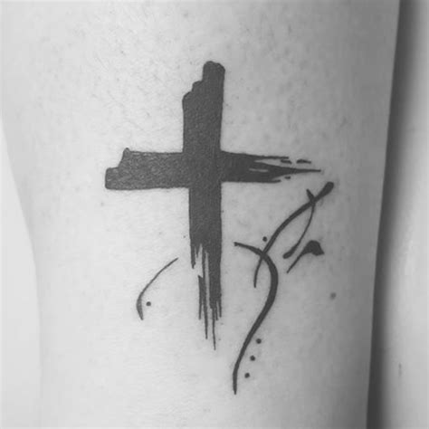 cross tattoo brush pictures to pin on pinterest tattooskid