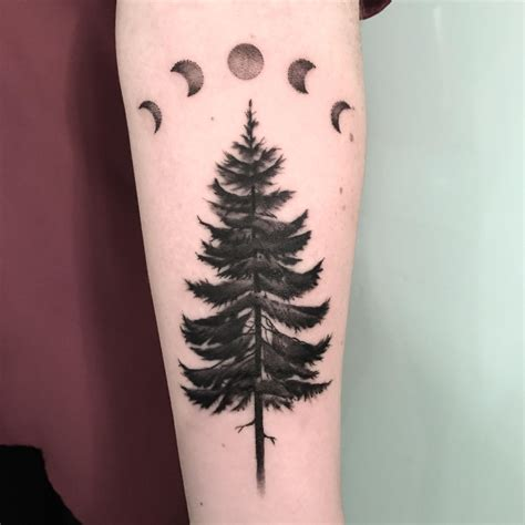 portland tattoo pine tree by ella at ink portland maine