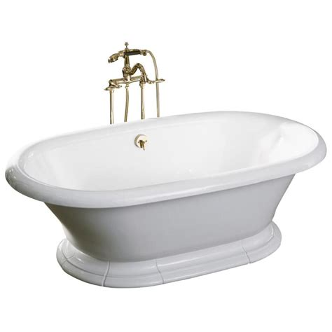 kohler vintage bathtub shop kohler vintage 72 in white cast iron freestanding
