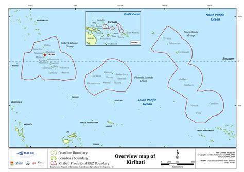 map of kiribati islands kiribati