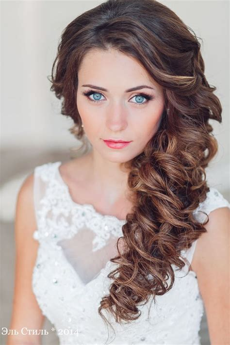 Best Hair Style For Bride : long half up wavy wedding