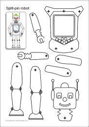 1000 Images About Theme Week Robots On Pinterest Robots Robot Crafts And Build A Robot Robot Craft Template