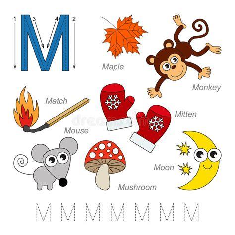 imagenes educativas letra m im 225 genes para la letra m ilustraci 243 n del vector